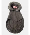 Pull chiot tricoté main laine uni