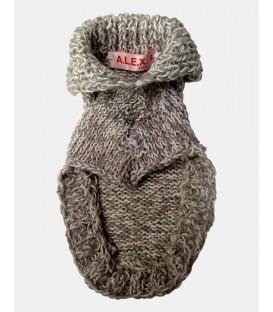 Pull chiot tricoté main laine chine
