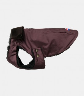 Manteau chaud JEANNE bordeaux